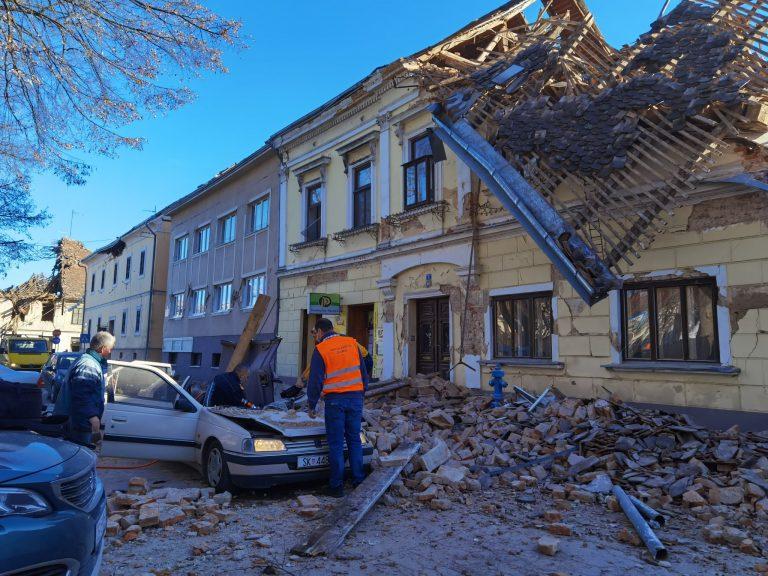 Kroatië getroffen door zware aardbeving.